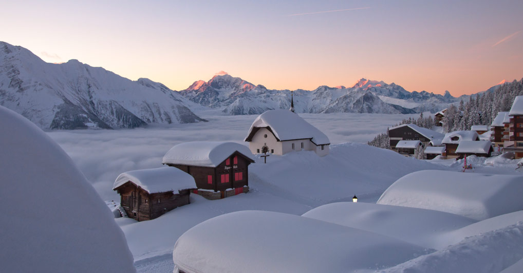 Aletsch Arena Winterlandschaft