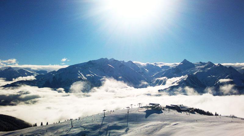 Skigebiet Zell am See / Kaprun und traumhafte Bedingungen am Berg