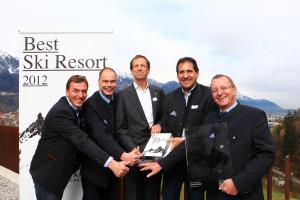 Freuen sich über den Gesamtsieg bei Best Ski Resort 2012: Serfaus-Fiss-Ladis