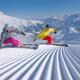 Skigebiet Adelboden-Lenk - perfekte Pisten und 2 Skifahrer