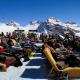 Skigebiet Arosa - Liegestühle in der Sonne