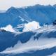 Wintersportgebiet Laax, hoch oben am Gipfel