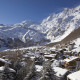 winterlicher Ort Saas-Fee