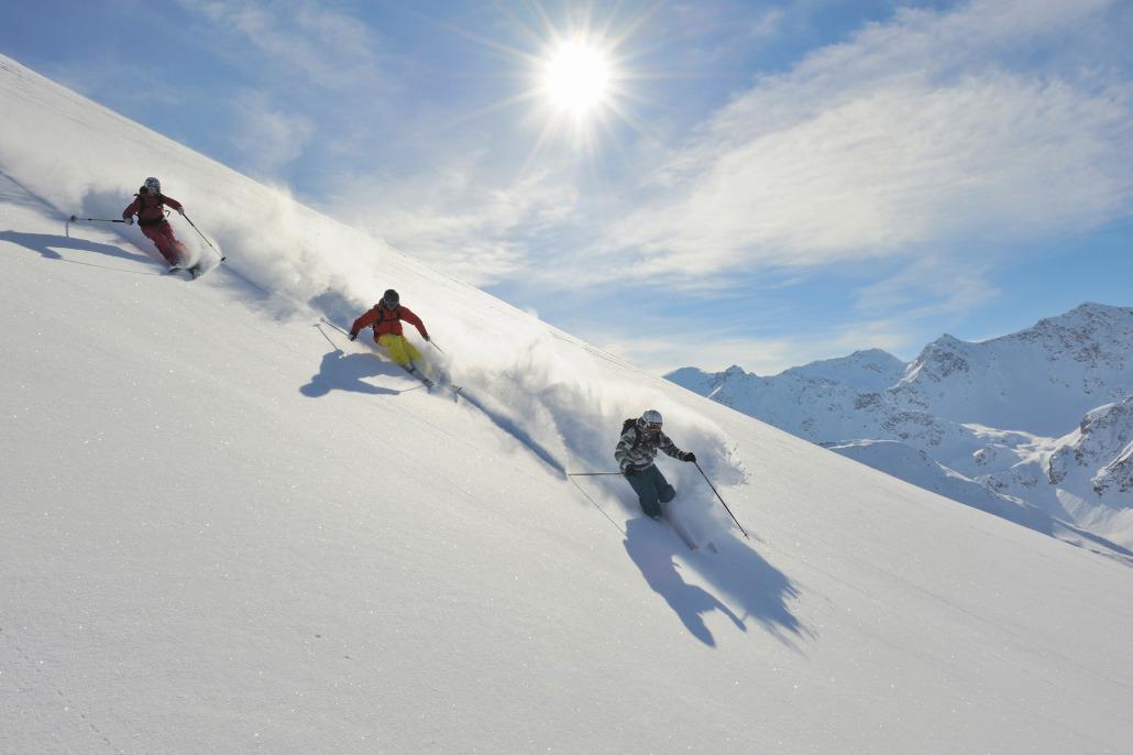 3 Freerider - Skifahren im Pulverschnee