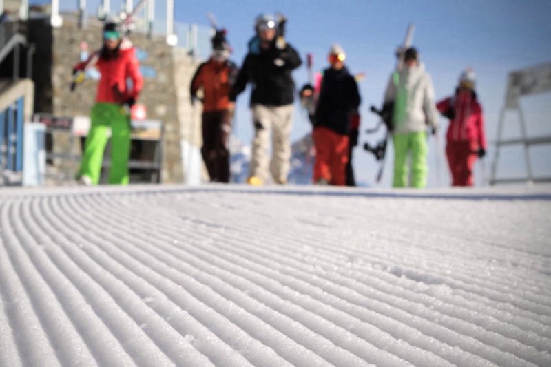 Skifahrer Gruppe