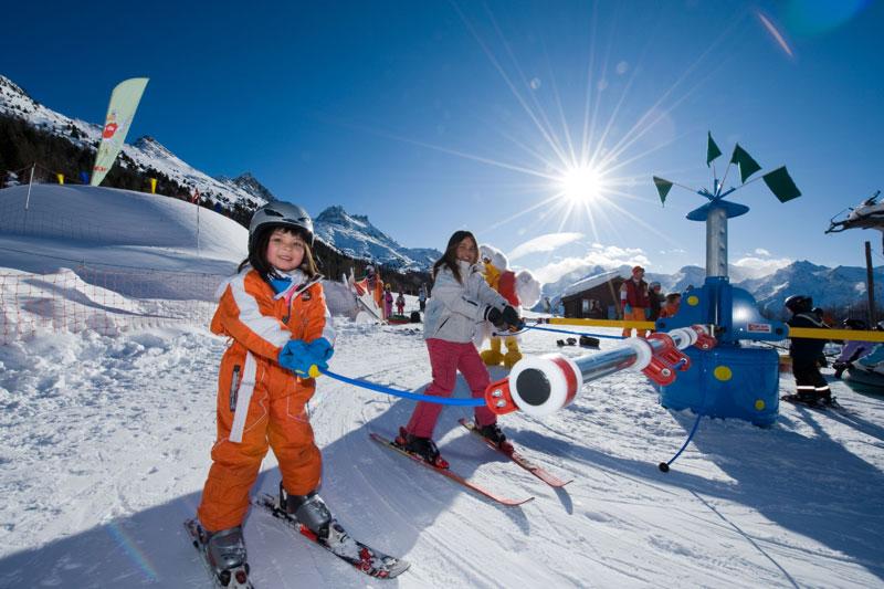 Grächen Skikarussel Kinderpark